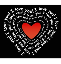 I love you in the form of heart vector image