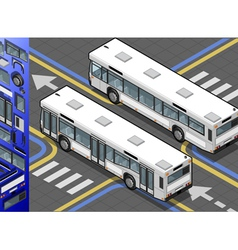 Isometric Bus in Rear View vector image vector image