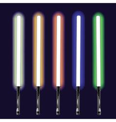 light sabers set vector image vector image