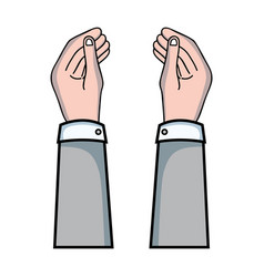 businessman hands with fingers and palm design vector image vector image