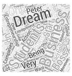 Peter burns entrepreneurship word cloud concept vector