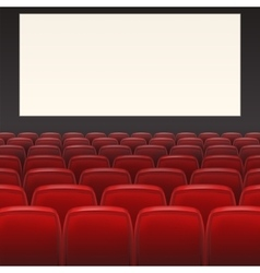 Red seats with blank screen vector