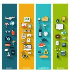 Set of modern concept banners vector image vector image