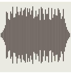 sound waves set Audio equalizer technology vector image