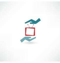 Tv icon vector