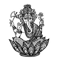 Decorative Ganesha vector image vector image
