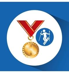 extreme sport avatar ski design vector image vector image