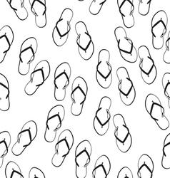 Flip flops seamless pattern vector image vector image