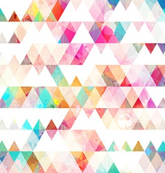 rainbow triangle seamless pattern with grunge vector image