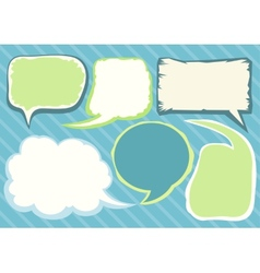 Set of comic bubbles and elements vector image