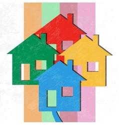 3D Houses vector