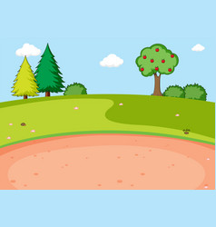 a flat nature park vector image