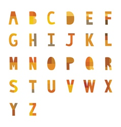 A to Z alphabet vector image