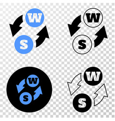 alphabet characters exchange eps icon with vector image