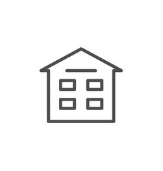 apartment house line icon vector image