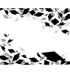 background graduate caps vector image