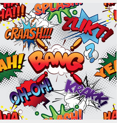 Bang seamless comics background vector