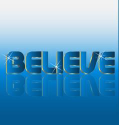 Believe word concept vector