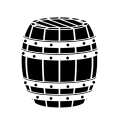 black wooden barrel icon image design vector image
