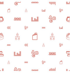 block icons pattern seamless white background vector image
