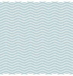 Blue seamless wavy line pattern vector image