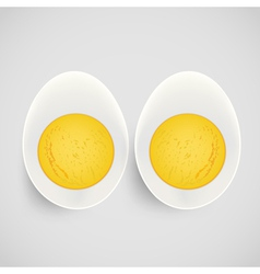 Boiled egg with yolk vector