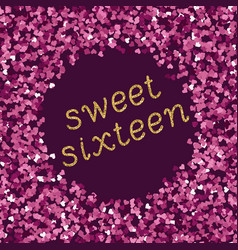 bright magenta pink glitter texture whit vector image