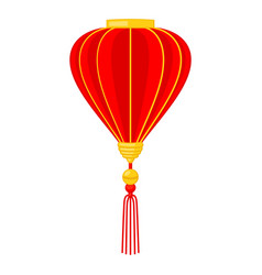 Cartoon red chinese lantern vector