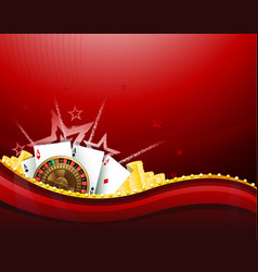 casino gambling red background elements vector image