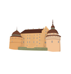 Castle isolated vector