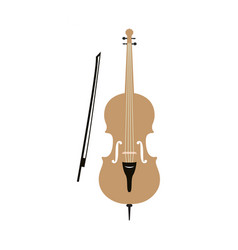 cello graphic design template isolated vector image