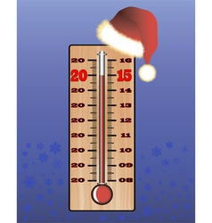 Christmas thermometer vector image