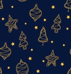 Christmas toys pattern vector