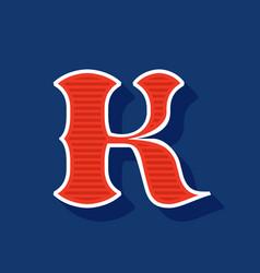 Classic style k letter sport logo vector