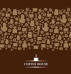 coffee horizontal brown vector image