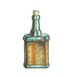 Color design blank vintage whisky bottle cork cap vector