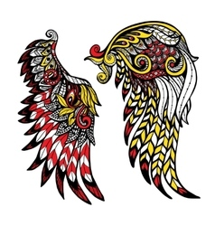 Colored Wings Set vector image