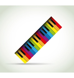 Colorful Piano rol vector image