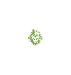 cool monkey logo icon vector image