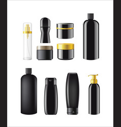 Cosmetic items packaging - realistic set of vector
