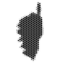 Dot halftone corsica france island map vector