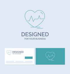 Ecg heart heartbeat pulse beat business logo line vector