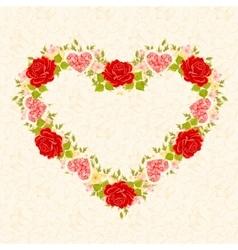 Floral frame in the shape of heart Design element vector image vector image