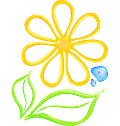 Gel flower icon vector image