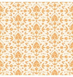 Golden floral damask seamless pattern background vector image