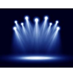 group realistic spotlights lighting vector image