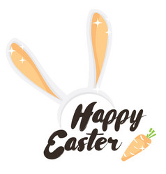 Happy easter holiday greeting card vector