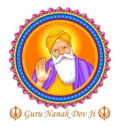 Happy guru nanak jayanti festival sikh vector