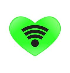 heart send signal wifi vector image