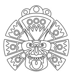 line african mask vector image